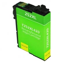 Epson T252 XL High Yield Yellow Remanufactured Printer Ink Cartridge