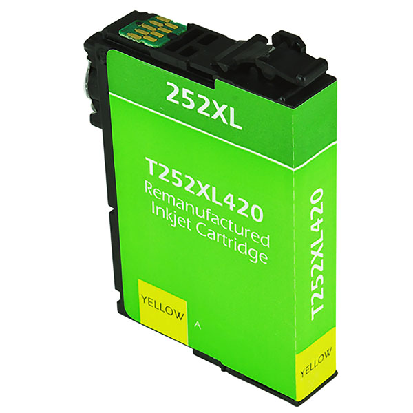 Epson T252 XL High Yield Yellow Remanufactured Printer Ink Cartridge