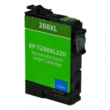 Epson T288 XL High Yield Cyan Remanufactured Printer Ink Cartridge