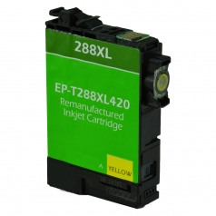 Epson T288 XL High Yield Yellow Remanufactured Printer Ink Cartridge