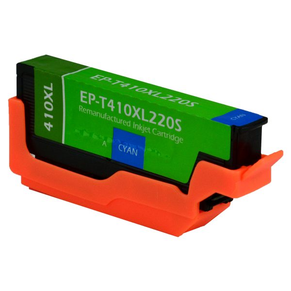 Epson T410 XL High Yield Cyan Remanufactured Printer Ink Cartridge