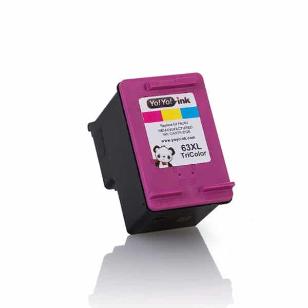 HP 63 XL High Yield Color Remanufactured Printer Ink Cartridge