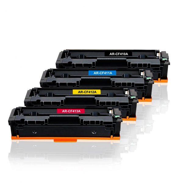 Remanufactured HP 410X High Yield Black, Cyan, Magenta, Yellow Toner Cartridge