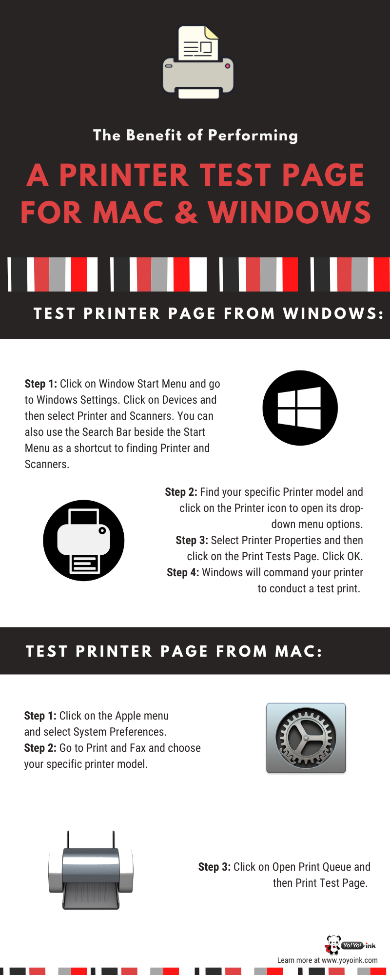 How to do a Printer Test page