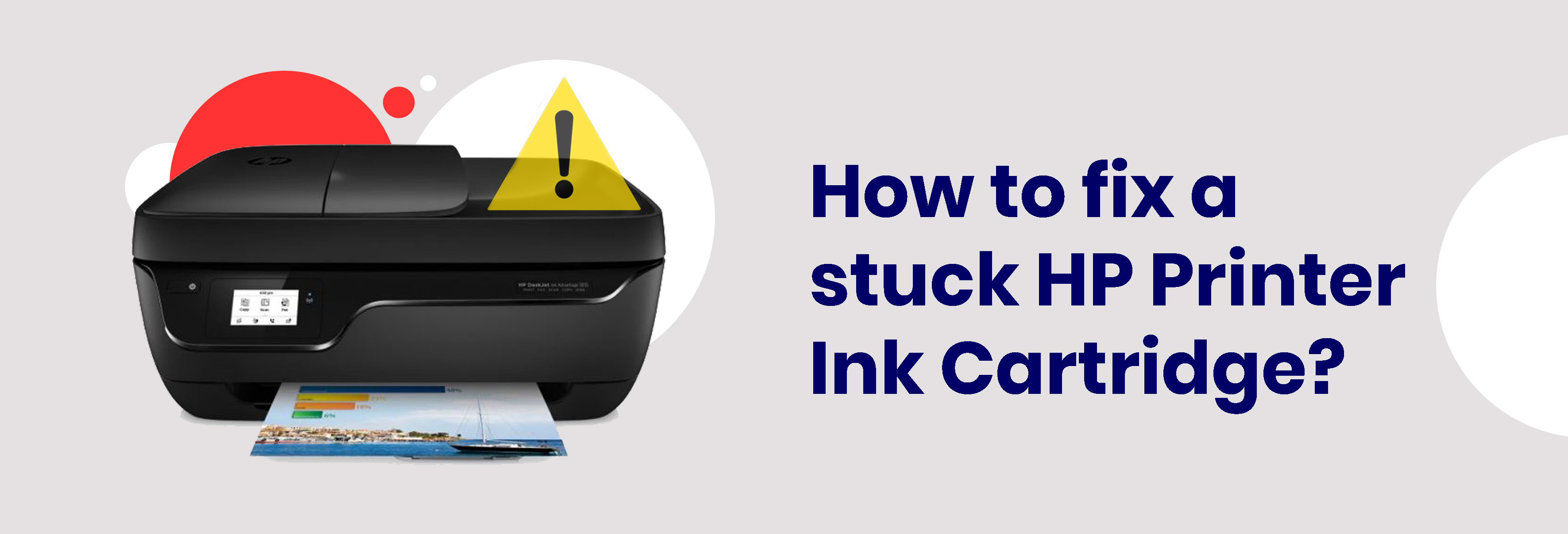 How to fix a stuck HP Printer Ink Cartridge