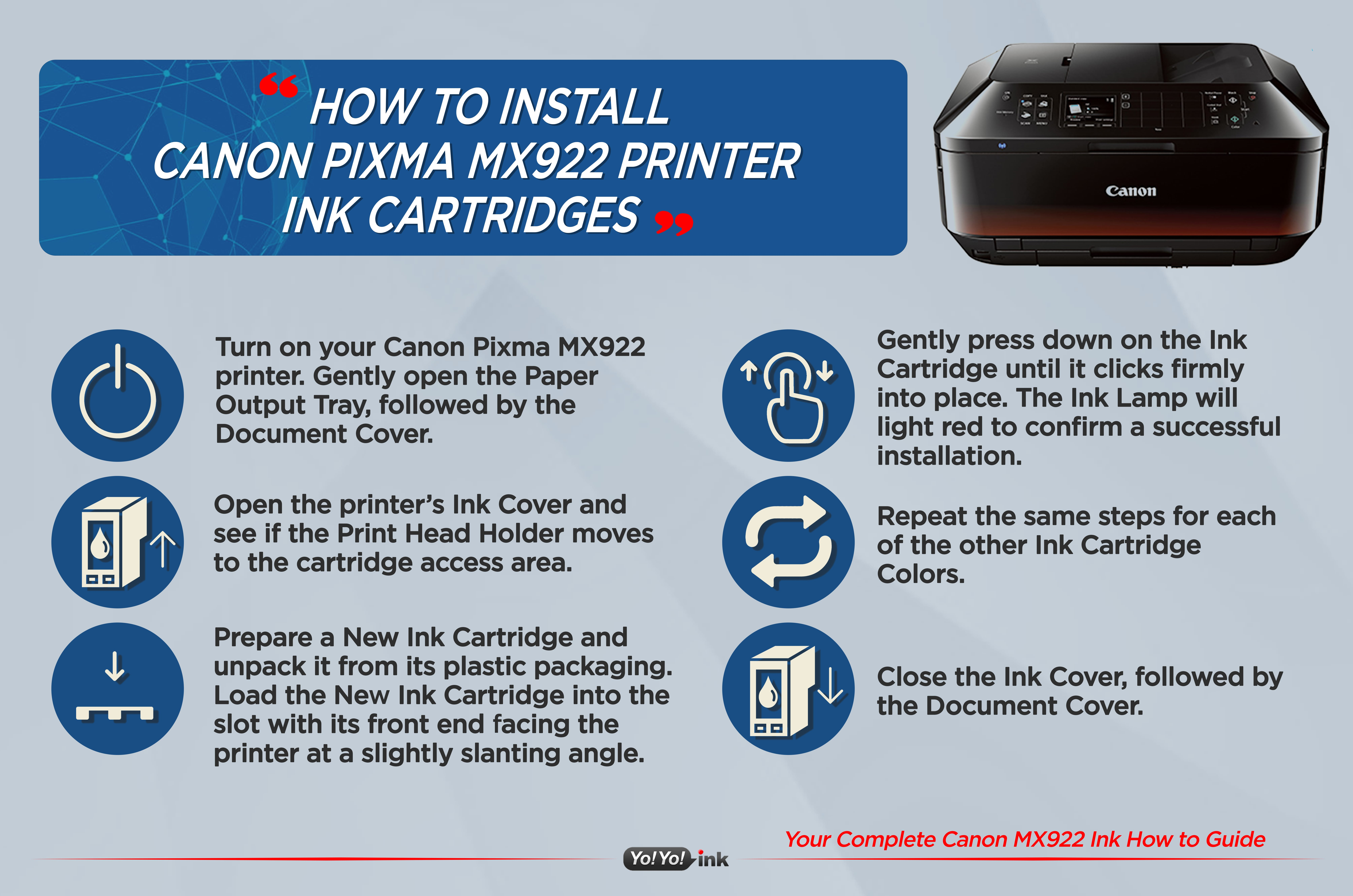 Your Complete Canon MX922 Ink How to Guide