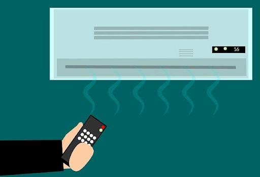 Adjusting air condition temperature using hand remote