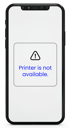 Iphone-Printer is not available