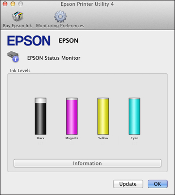How to check EPSON printer ink levels for Mac users