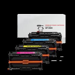 HP 210X toner cartridges 4 pack