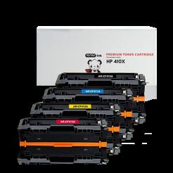 HP 410X toner cartridges 4 pack