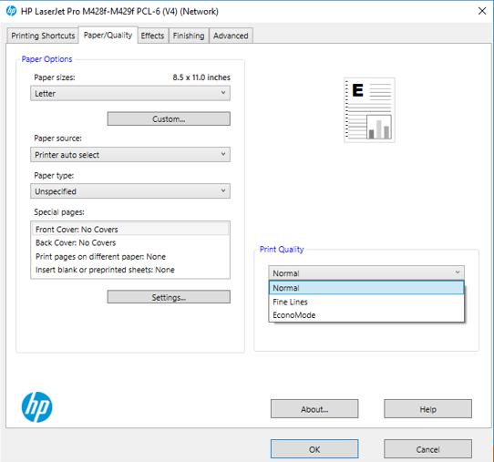 HP LaserJet Pro Printer Paper Quality
