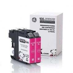 Brother LC203 High Yield Magenta Compatible Printer Ink Cartridge - 2 Pack