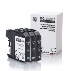 Brother LC103 High Yield Black Compatible Printer Ink Cartridge - 3 Pack