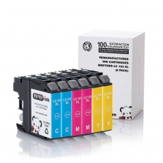 Brother LC103 High Yield Cyan Magenta Yellow Compatible Printer Ink Cartridge - 6 Pack