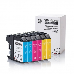 Brother LC203 High Yield Cyan Magenta Yellow Compatible Printer Ink Cartridge - 6 Pack